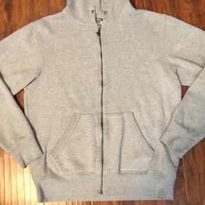 Lrg Shirts - LRG Men's Light Gray Zip-up Hoodie